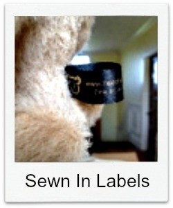 Adding sewn in labels to your bears